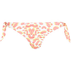 Cream Pacha animal print bikini bottoms