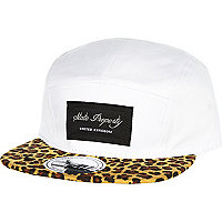 White leopard peak trucker hat