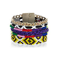 Multicoloured woven gateway bracelet