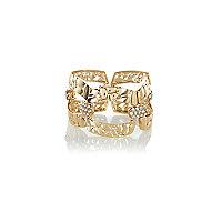Gold tone textured bracelet