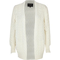 Cream cable knit cricket cardigan