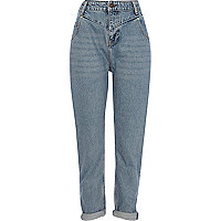 Vintage wash slim Mom jeans