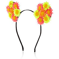 Yellow flower ears hairband