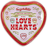 Love Hearts sweets tin