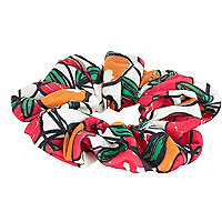 Red cherry print scrunchie