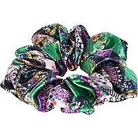 Blue kaleidoscope print scrunchie