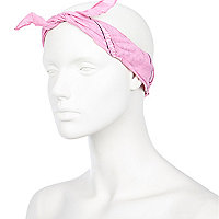 Light pink overdye wire wrap bandana