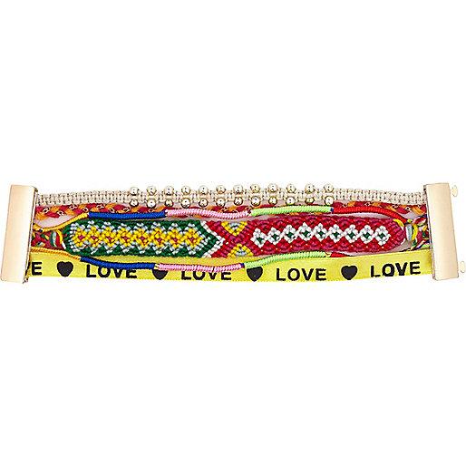 Multicoloured friendship gateway bracelet