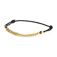 Black chain insert rope bracelet