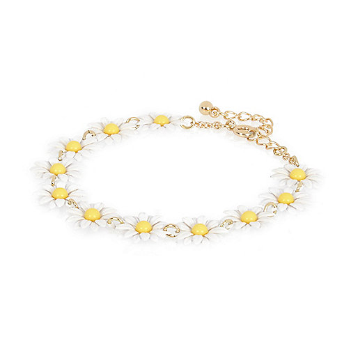 White daisy repeat bracelet