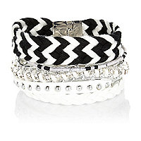Black and white friendship gateway bracelet
