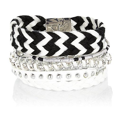 Black and white friendship gateway bracelet