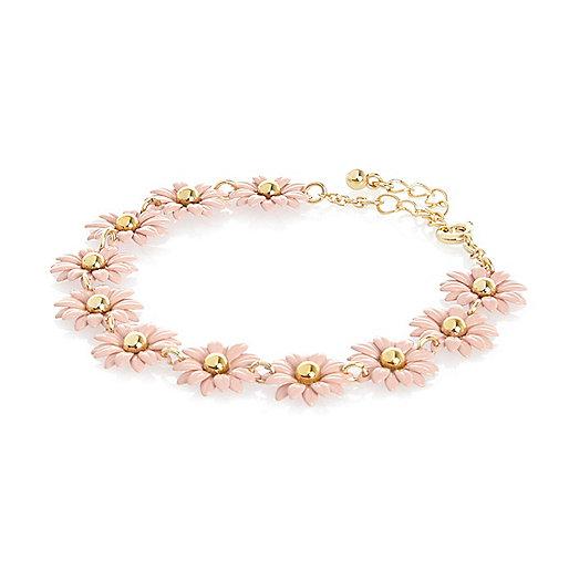 Pink daisy repeat bracelet