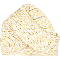 Cream chunky knitted hat