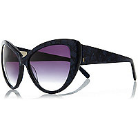 Navy Vow London cat eye sunglasses