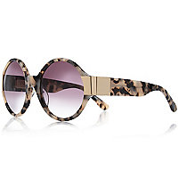 Beige Vow London round sunglasses