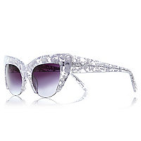 White Vow London cut-away sunglasses