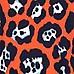 Red graphic leopard print t-shirt dress