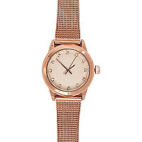Rose gold chain bracelet watch