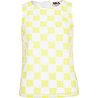 Yellow Chelsea Girl check tank top