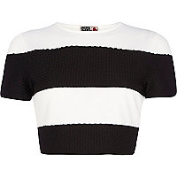 Black stripe Chelsea Girl crop t-shirt