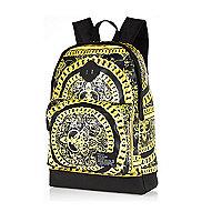 Black chain print rucksack