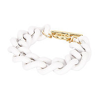 White curb chain bracelet