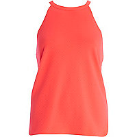 Bright pink textured racer front top