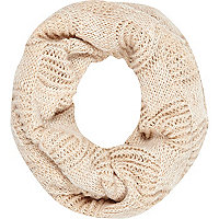 Cream open knit snood