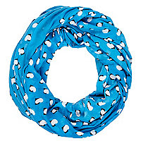 Blue heart print snood
