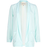 Light green unfastened blazer