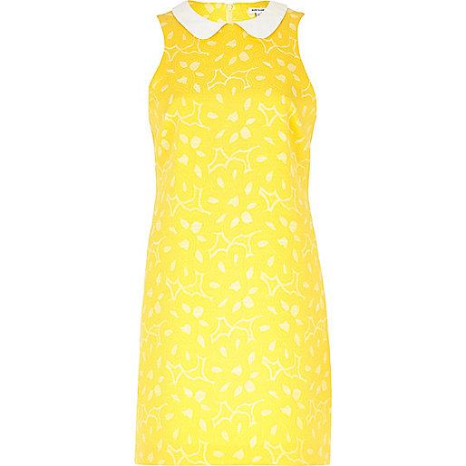 river island yellow dress