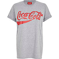 Grey Coca-Cola print oversized t-shirt