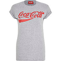 Grey Coca-Cola print fitted t-shirt