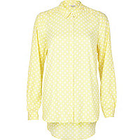Light yellow polka dot shirt