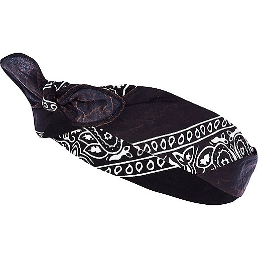 Black bandana headscarf