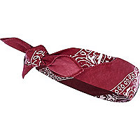 Red bandana headscarf
