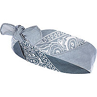 Light blue bandana headscarf