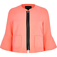 Light orange bell sleeve cropped jacket