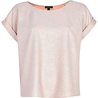 Pink metallic t-shirt