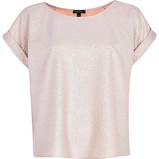 pink glitter top
