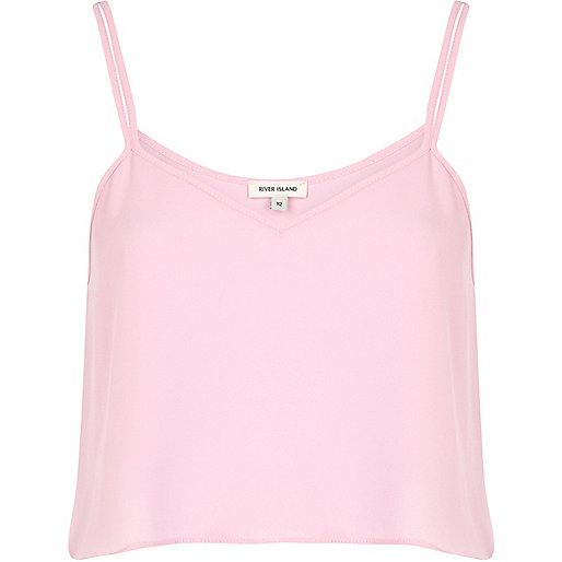 Light pink cami crop top