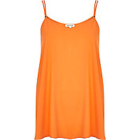 Orange longline cami top