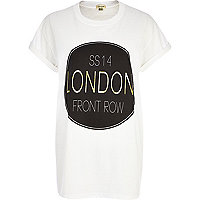 White SS14 London front row print t-shirt