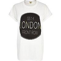 White SS14 London front row print t-shirt