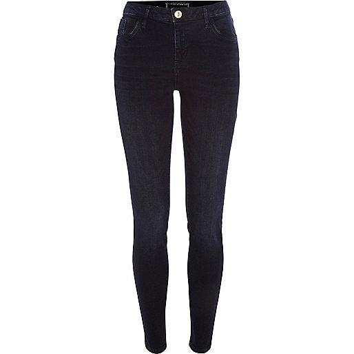 Blue-black Amelie superskinny reform jeans