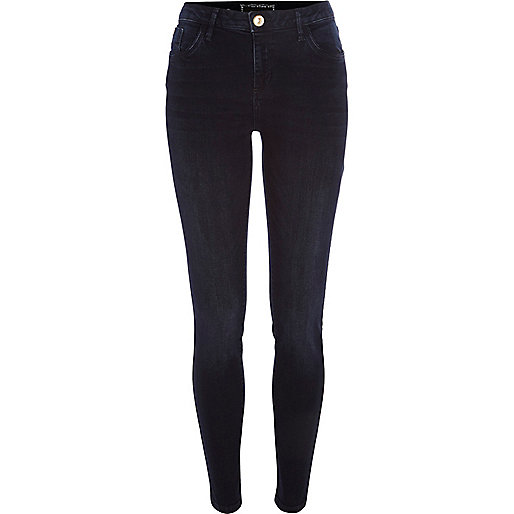 Blue-black Amelie superskinny reform jeans