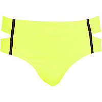 Bright yellow bikini bottoms