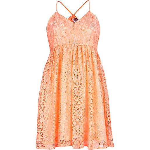 Pink Chelsea Girl lace babydoll dress