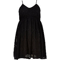 Black Chelsea Girl lace babydoll dress